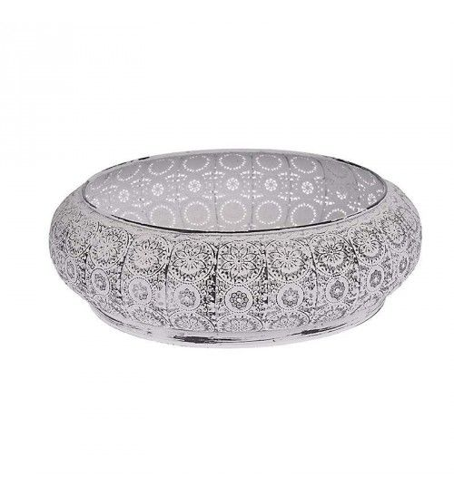 METAL BOWL IN WHITE COLOR 35X35X11