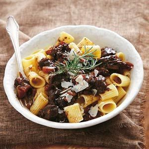 pasta met rundvlees