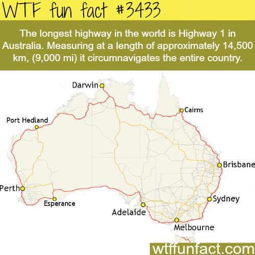 The longest highway in the world - WTF fun facts