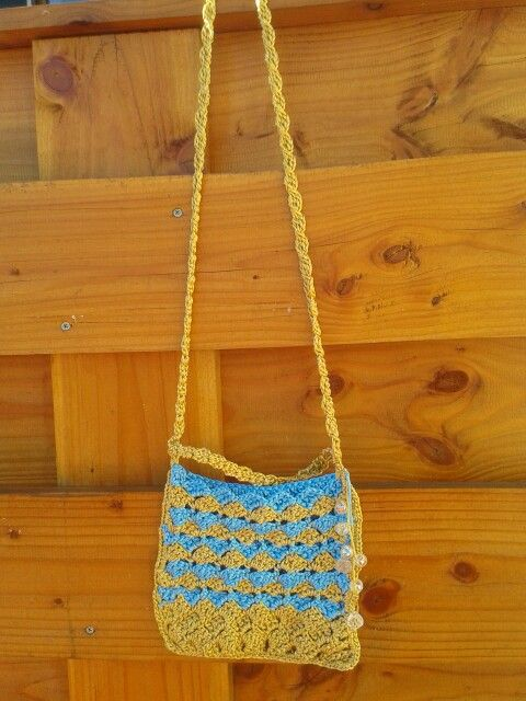 Summer Handbag gold and turquoise