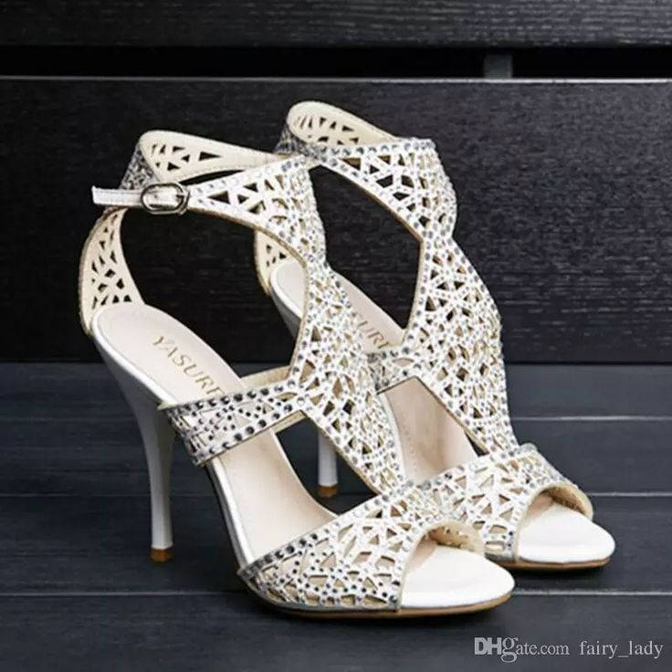 Bling Rhinestone Buckle Women'S Sandals Wedding Shoes Major Beading Cut Outs High Heel Pumps Party Bridal Gowns 2017 Buy Wedding Shoes Online Cheap Bridal Shoes Uk From Fairy_lady, $65.43| Dhgate.Com
