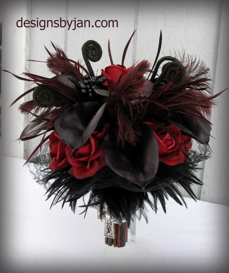 gothic wedding flowers wedding bouquet real touch flowers by 4584