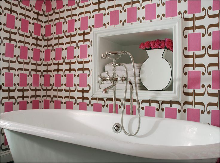 Designer Lisa Flake Of Caldwell Flake Interiors Has Three Favorite Ways To  Add Color To Bathrooms: Wallpaper, Wallpaper, Wallpaper!
