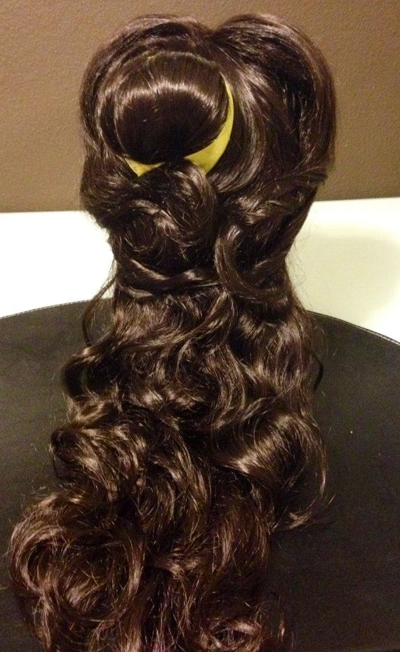 NEW Belle beauty and the beast wig by princesspartyenchant on Etsy ...