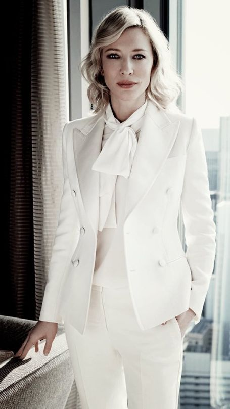 Cate Blanchett. IN.A. WHITE. SUIT.