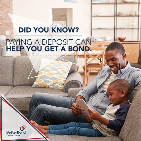 Paying a deposit can help your home loan application approval. Contact BetterBond now to find out more about applying for a home loan: http://bit.ly/2B5tEuR