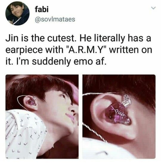 The thing is, they all have their names written on their ear pieces. This is why we should give him the love he gives us.