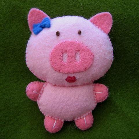 Blog do passo a passo: porquinhos porcos feltro e.v.a tecido