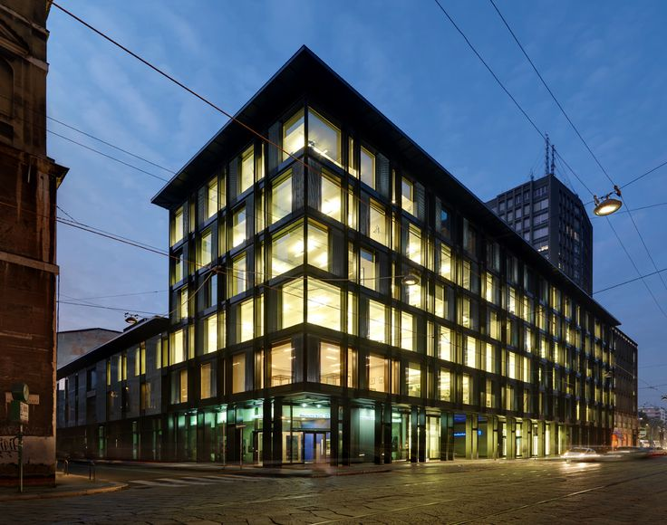"""Completed in 2012 in Milan, Italy. Images by Andrea Martiradonna. The building known as """"Palazzo Campari"""" was designed in the 1960s by Ermenegildo and Eugenio Soncini in the heart of Milan and was one of a series of..."""