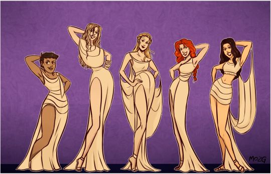 The wives as the muses from Hercules