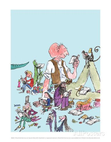 Roald Dahl Characters Reading Posters by Quentin Blake at AllPosters.com