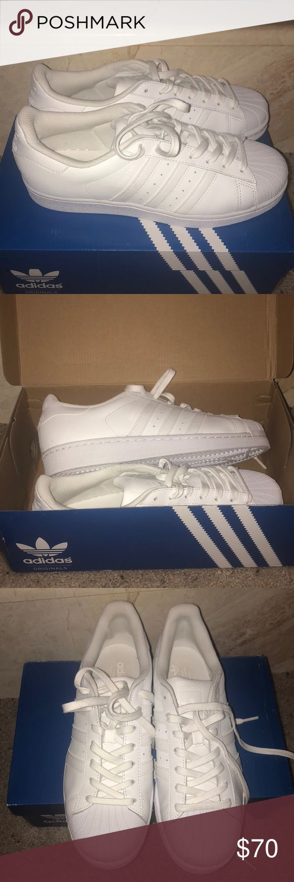 BRAND NEW ADIDAS SUPERSTAR White adidas superstar original. Price is firm! adidas Shoes Sneakers