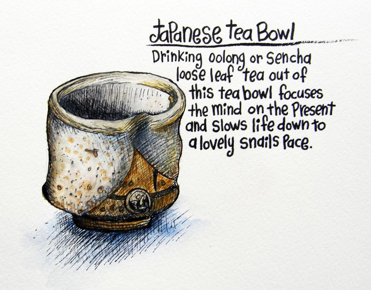 I got this japanese tea bowl by Andrew Warford (an amazing potter!) as a gift from my mom. I drink all my Oolongs and green teas out of it. Ceylon tea is out of a good old fashioned tea cup :)