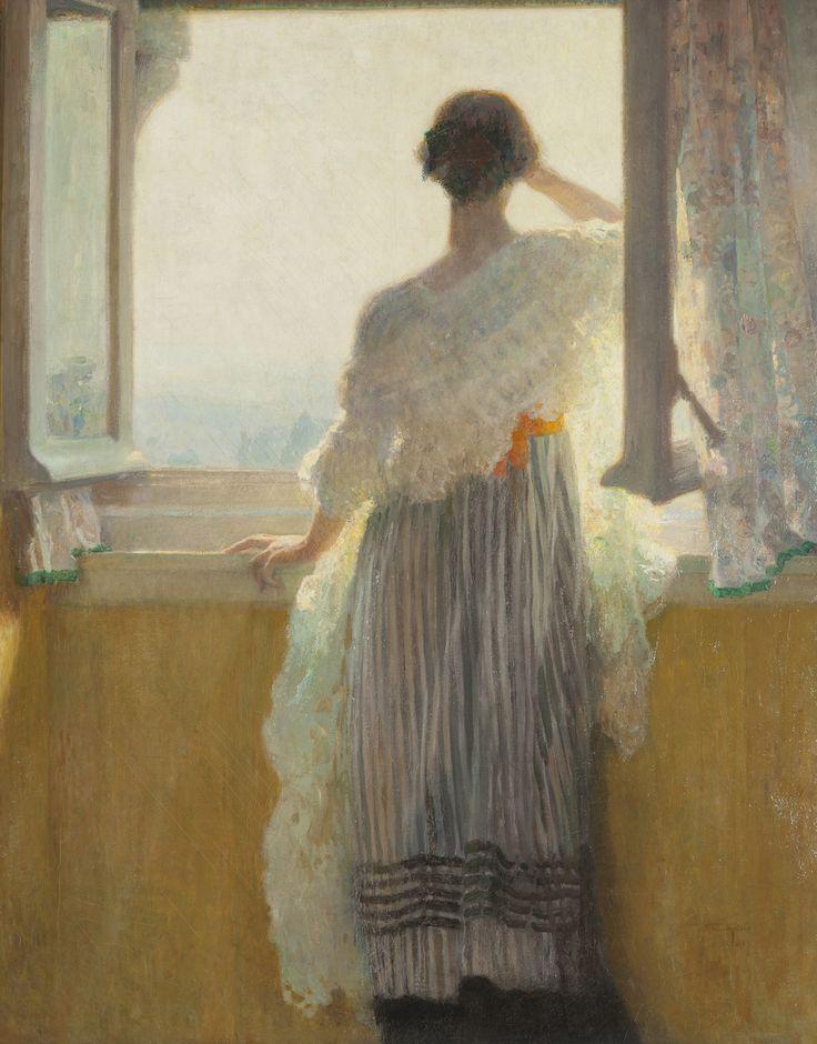 Frans Van Holder 1881 1919 Lumi Re Vers 1905 Peinture L Huile Sur Toile Collection De La