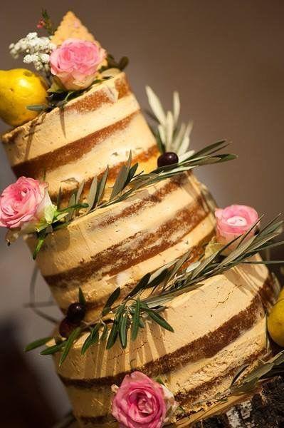 Naked Cake Poire caramel par Louis Patissier Aix-en-Provence