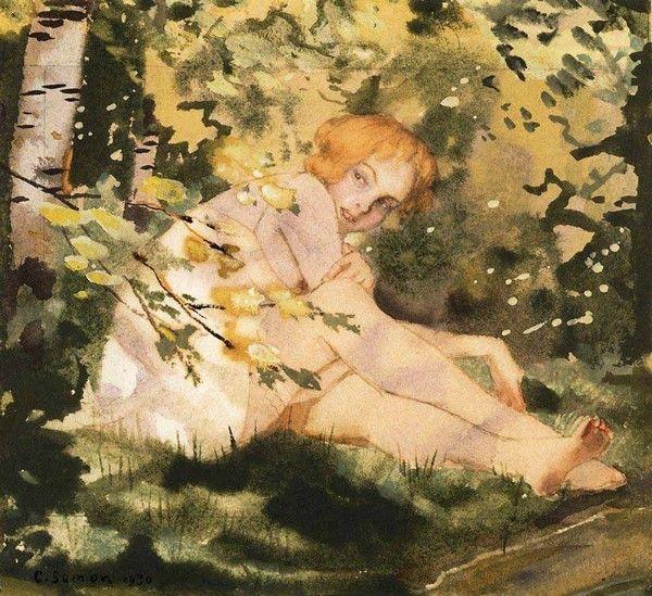 Konstantin Somov, Girl in the Sunlight