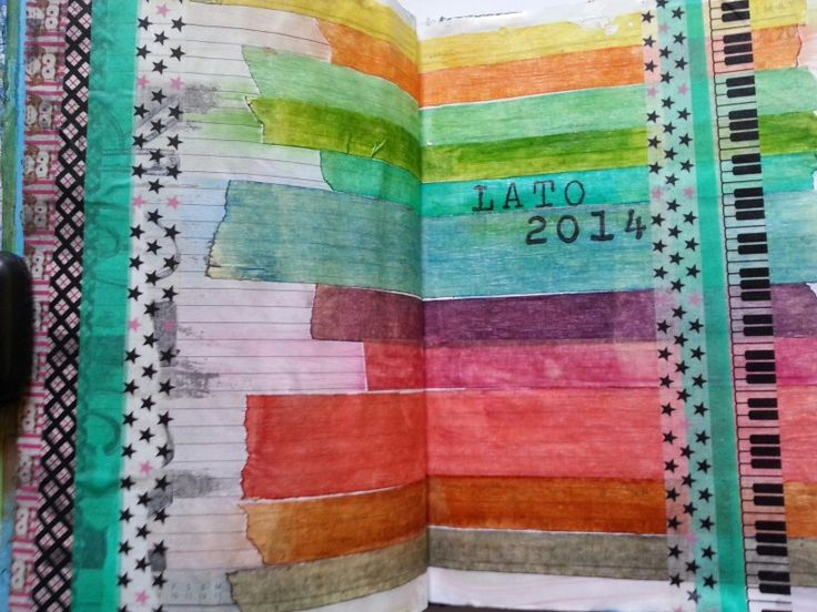 Summer colors art journal page