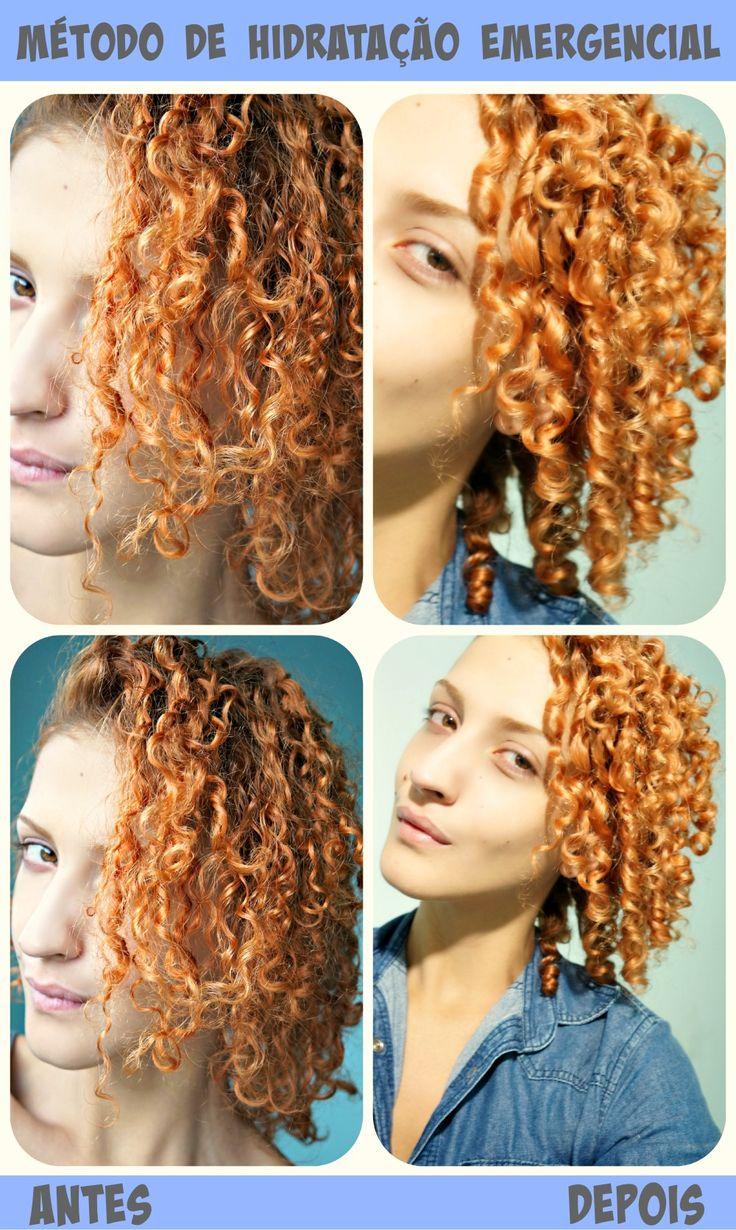 Método de hidratação emergencial para cabelos cacheados RESSECADOS