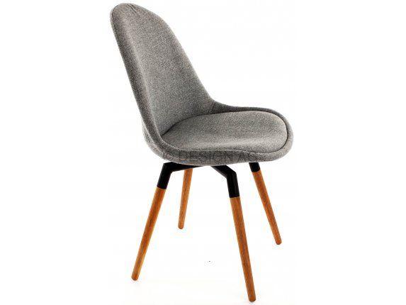 Krzesło Donna Fido szare nogi drewniano-czarne — Krzesła Tenzo — sfmeble.pl