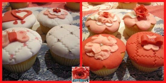 CupCakes alla Vaniglia decorati in Pasta di Zucchero