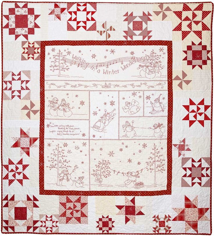 113 best Patchwork Quilts - Christmas & Winter images on Pinterest ... : embroidered quilts patterns - Adamdwight.com