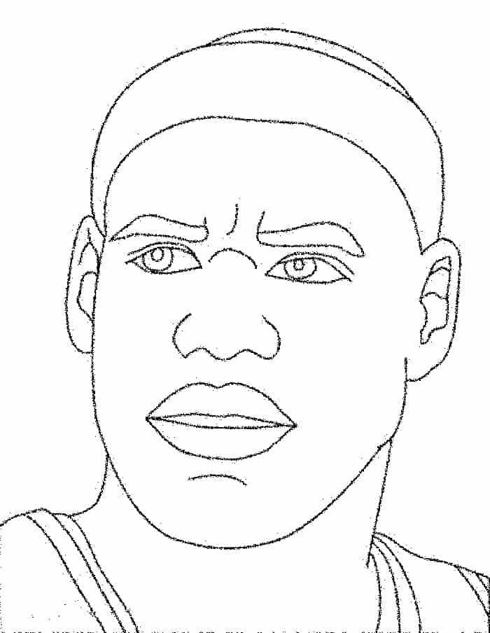 Pictures Of Basketball Players To Color