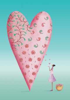 Roger la Borde | Heart Greeting Card by Mary Claire Smith