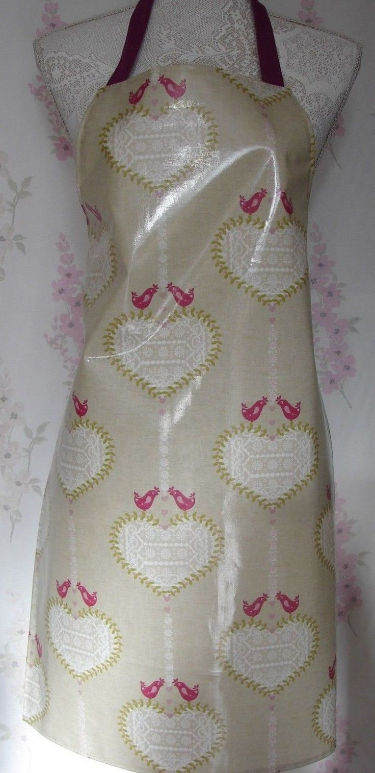 Oilcloth PVC apron adults Hearts design ideal Mothers Day gift | eBay
