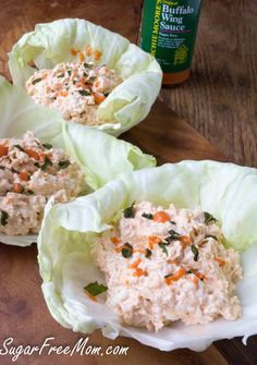 <em> This recipe for Buffalo Ranch Chicken Salad in Lettuce Wraps is a great way to please anyone whether they are looking to eat low carb or not! </em>   So my hubby has been faithfully, with just maybe a few cheats, learning to eat lower carb. He's not perfect, but who is and as long as I've got some delicious recipes for him waiting to be eaten, he has embraced this life style without too much complaint...