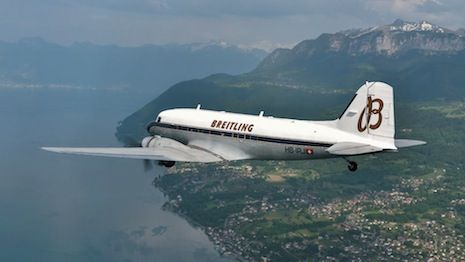 Luxury Daily Breitling travels the world to celebrate a milestone  Breitling DC-3 Plane  Swiss watchmaker Breitling will be selling a limited-edition line of watches that have physically toured the world to celebrate the 77th anniversary of its iconic DC-