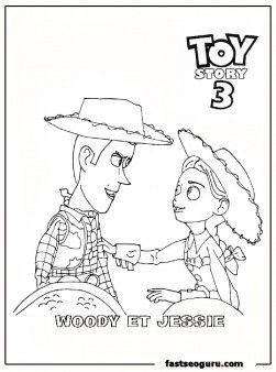 72 best images about coloring pages toy story on for Toy story 3 jessie coloring pages