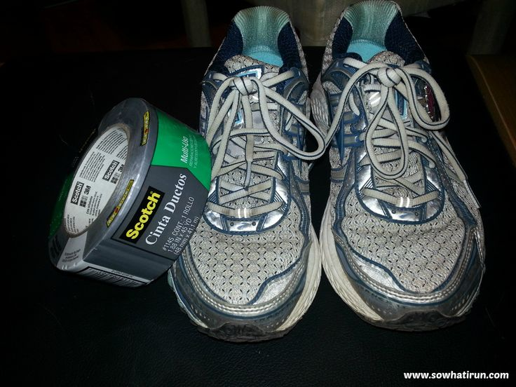 Duct tape and other tips for running in the rain...
