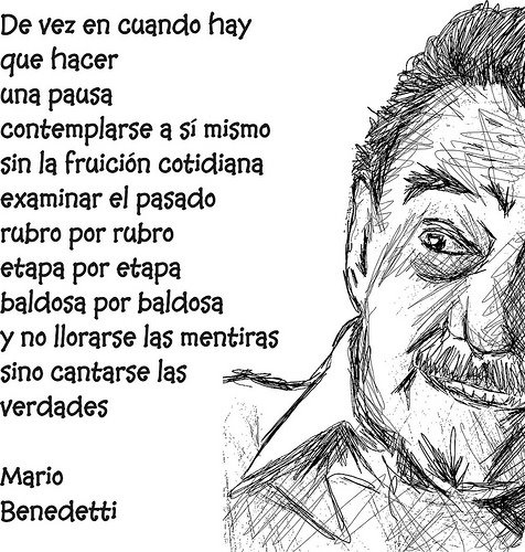 Mario Benedetti poeta uruguayo un grande..