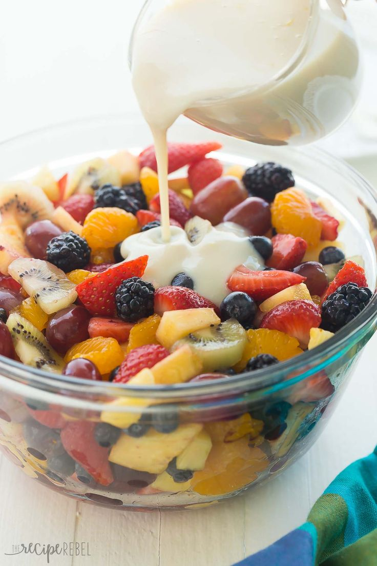 Creamy Fruit Salad Recipe with Homemade Vanilla Dressing + VIDEO