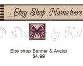 Etsy Shop Banner and Ayatar