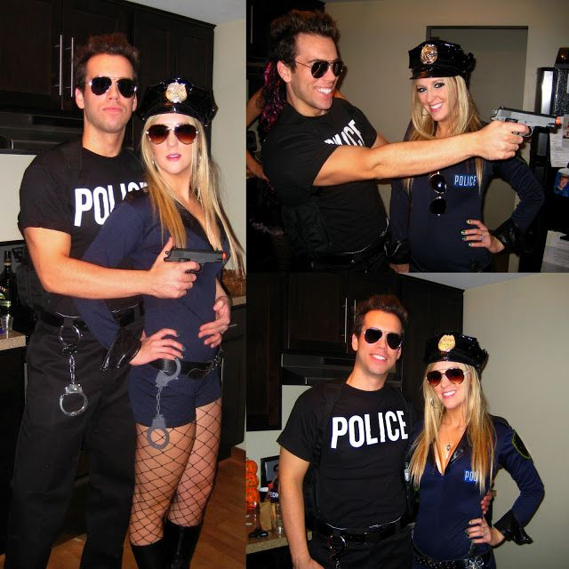 Best 58 halloween costumes couples ideas on pinterest couple cop halloween costume for couple police police halloween costumescop diy solutioingenieria Image collections