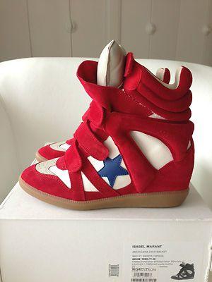 Isabel Marant 2013 Bayley Over Basket Rouge Red Star Wedge High Top Sneakers 38 | eBay