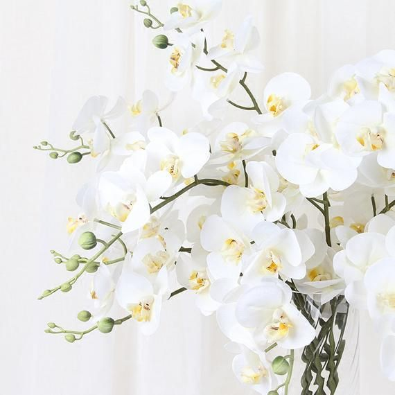 Product Artificial Flower Handmade Real Touch Flower Stem Flower Butterfly Orchid Dimensions 33 9 Tall Material Orchids Real Touch Flowers Artificial Orchids