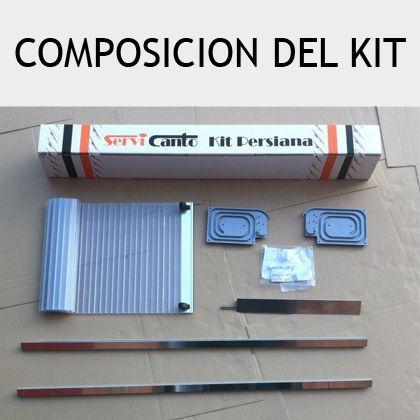 Kit para mueble persiana cocina inox mate 130x60 formato for Kit para toldos de enrollar