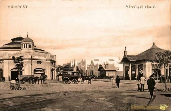 1900 körül. Városliget, Ringlispil.