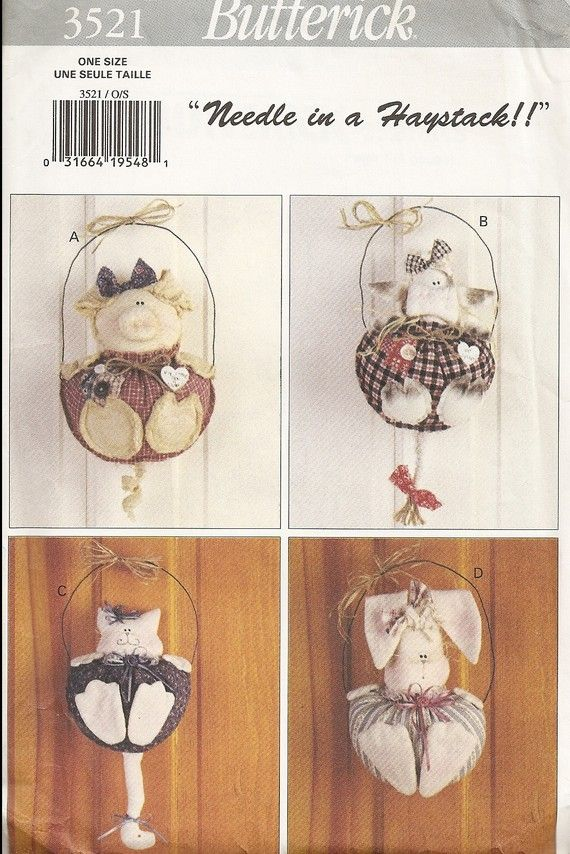 Butterick 3521 Needle in a Haystack animal wall by ColoradoCalico, $4.00