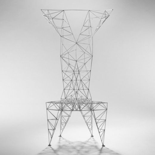 TOM DIXON    Pylon chair    Cappellini  United Kingdom/Italy, 1992  enameled steel  23 w x 22 d x 50 h inches
