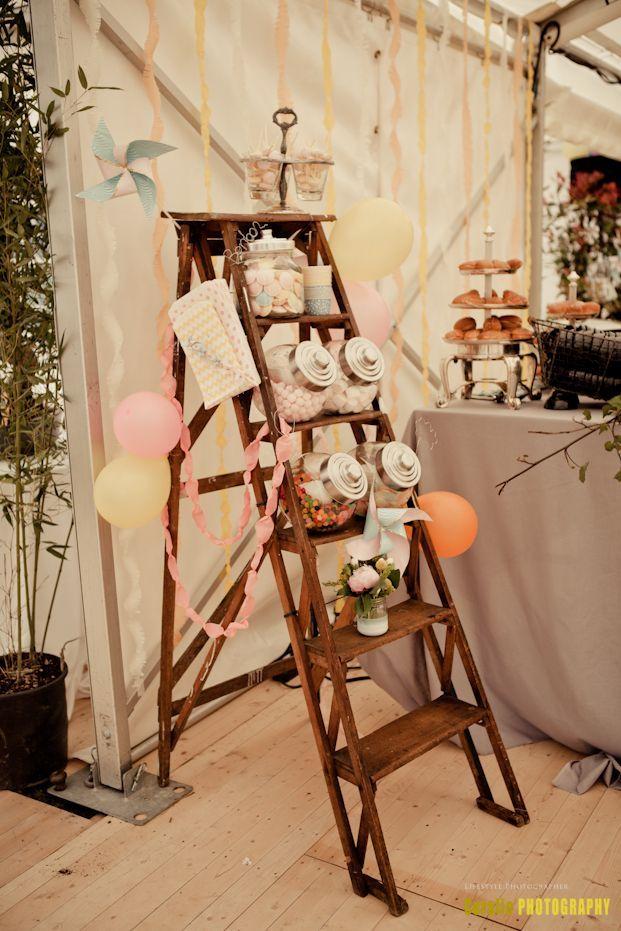 howne blog déco thème mariage champêtre rustique boho bohème jolie déco de  mariage candy bar bar