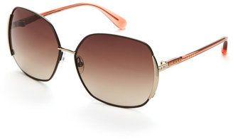 marc by marc jacobs Brown & Peach MMJ 098/S XL Geometric Sunglasses #sunglasses #womens #summer