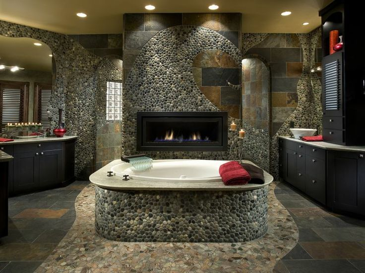 Stunning Master Bath Design: Debra May Himes Interior Design: Scottsdale  Arizona. River Rock BathroomAmazing ...