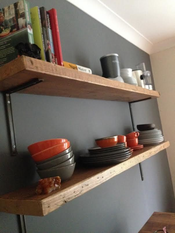 Reclaimed Wood Shelves - Tom Robinson Handmade Furniture from Brighton, Sussex