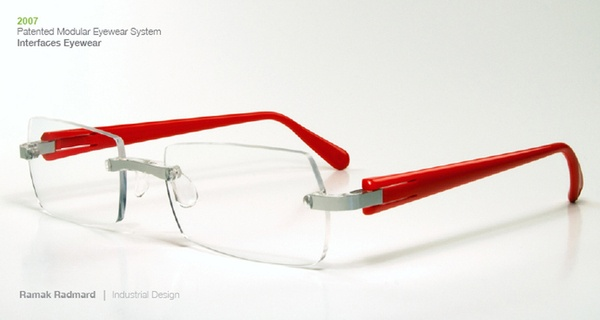 Modular Eyewear System, 2007 by Ramak Radmard, via Behance