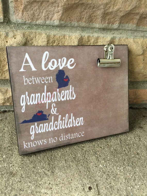 Personalized frame, Grandparents Frame, States, A love between grandparents and grandchildren, Housewarming Gift, Christmas Gift,                                                                                                                                                                                 More