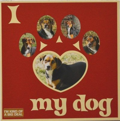 EZLaserDesigns : I Heart My Dog  scrapbook overlay pet animal layout