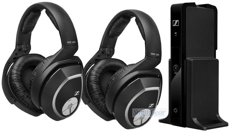Sennheiser RS 165 BUNDLE Wireless Digital TV Headphones is a superb digital dual wireless headphone system for movie watching and music.    This BUNDLE contains (2) Headphones and (1) Transmitter so 2 people can listen at the same time.    Its ergonomic, closed, circumaural design reduces background noise while providing an exceptionally comfortable fit, so that you can focus on enjoying your favorite television programs and movies.